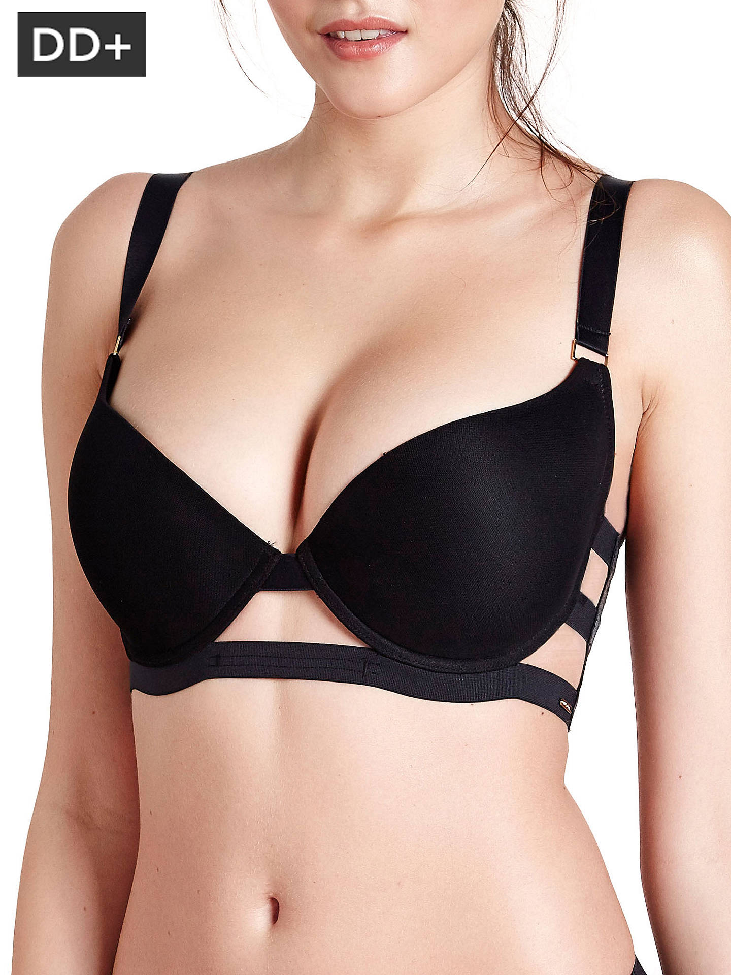 Buy Bluebella MORE Aura Bra, Black, 30DD Online at johnlewis.com