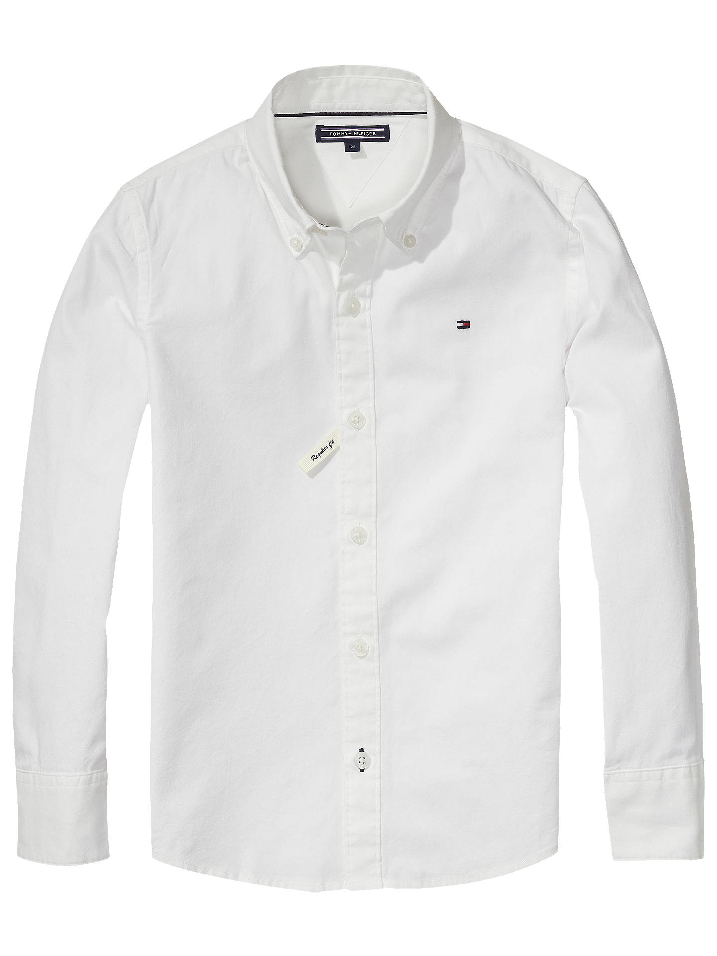 a638c39a Buy Tommy Hilfiger Boys' Poplin Shirt, White, 6 years Online at johnlewis.