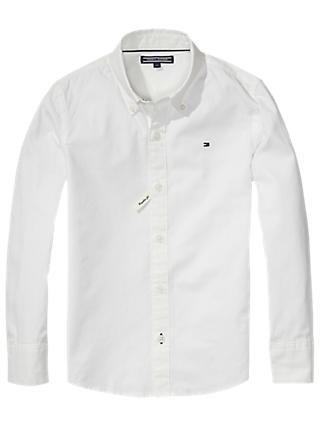 Tommy Hilfiger Boys' Poplin Shirt, White