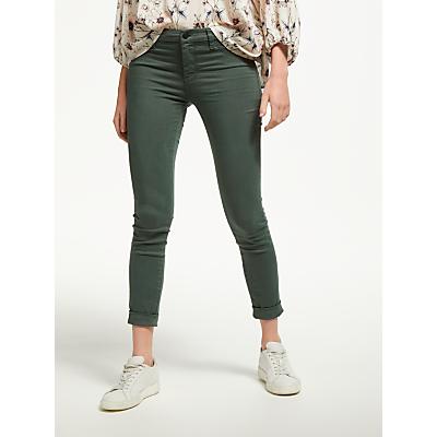 J Brand Anja Mid Rise Cropped Cuffed Skinny Jeans, Granite Green