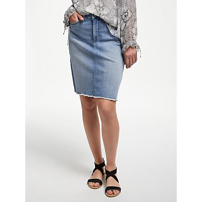 NYDJ Frayed Hem Denim Skirt, Dreamstate