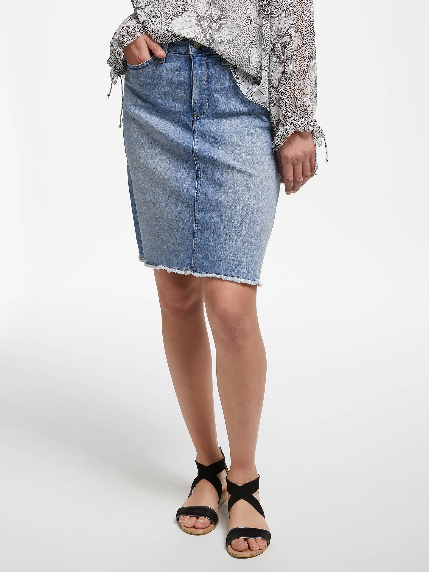 0bdb32aa1d Buy NYDJ Frayed Hem Denim Skirt, Dreamstate, 8 Online at johnlewis.com ...