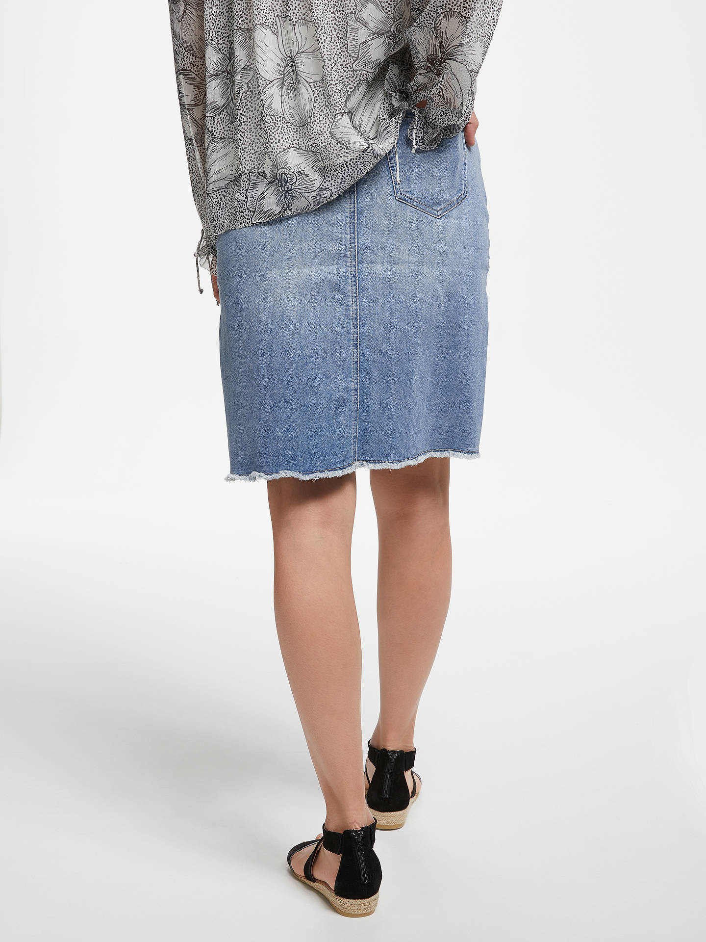 9267a34970 ... Buy NYDJ Frayed Hem Denim Skirt, Dreamstate, 8 Online at johnlewis.com  ...
