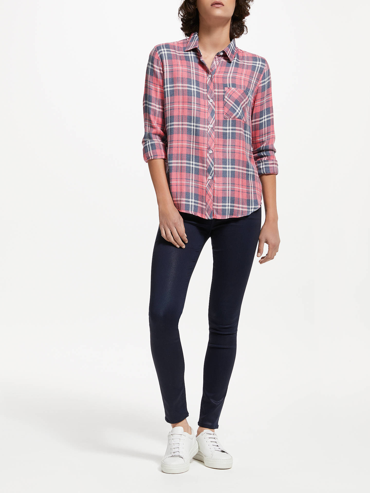 BuyRails Hunter Plaid Shirt, Indigo Raspberry, XS Online at johnlewis.com
