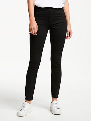 Calvin Klein High Rise Skinny Jeans, Eternal Black