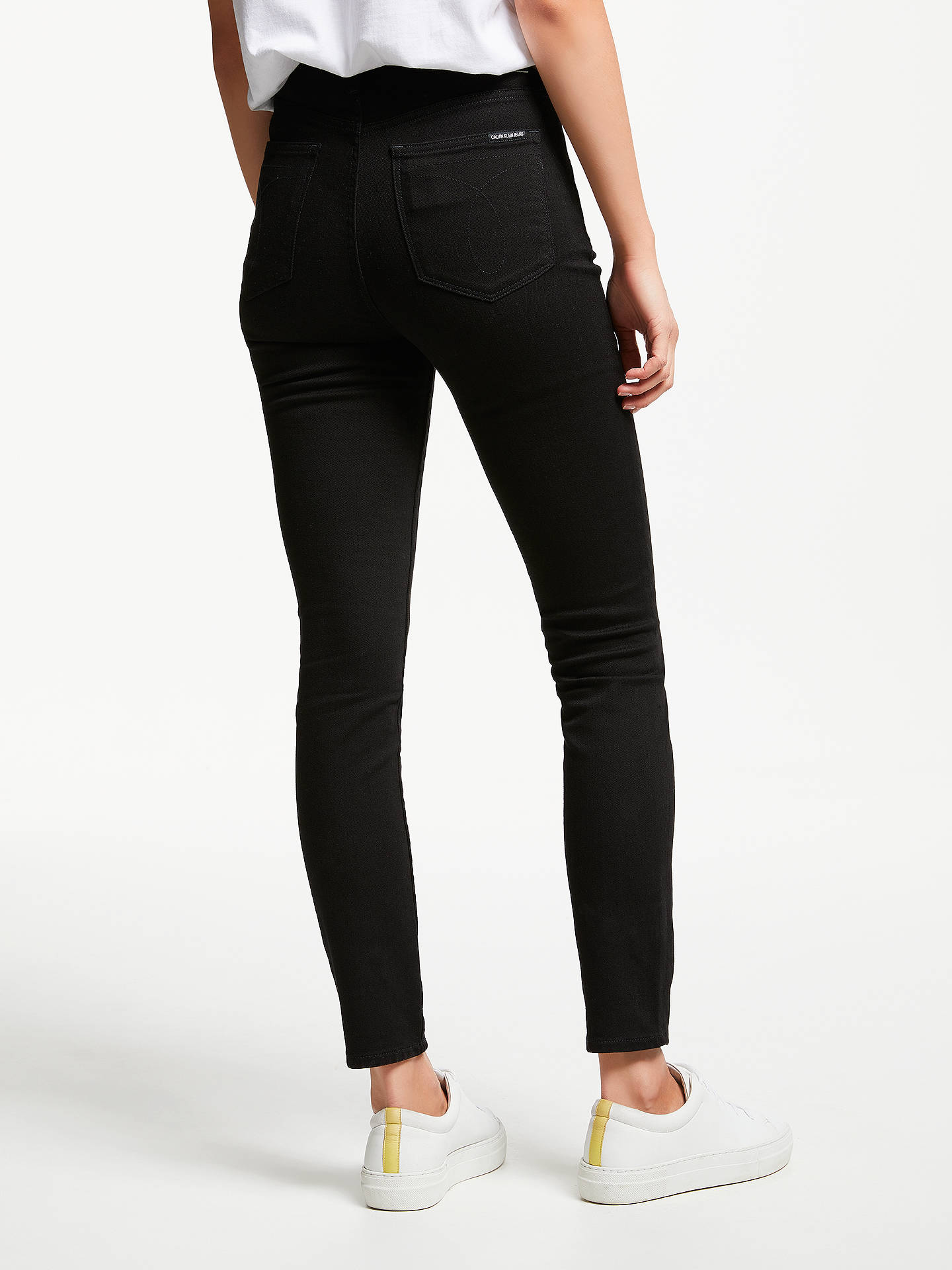 BuyCalvin Klein High Rise Skinny Jeans, Eternal Black, 27 Online at johnlewis.com