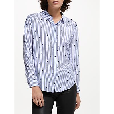 Rails Taylor Flocked Star Shirt, Blue