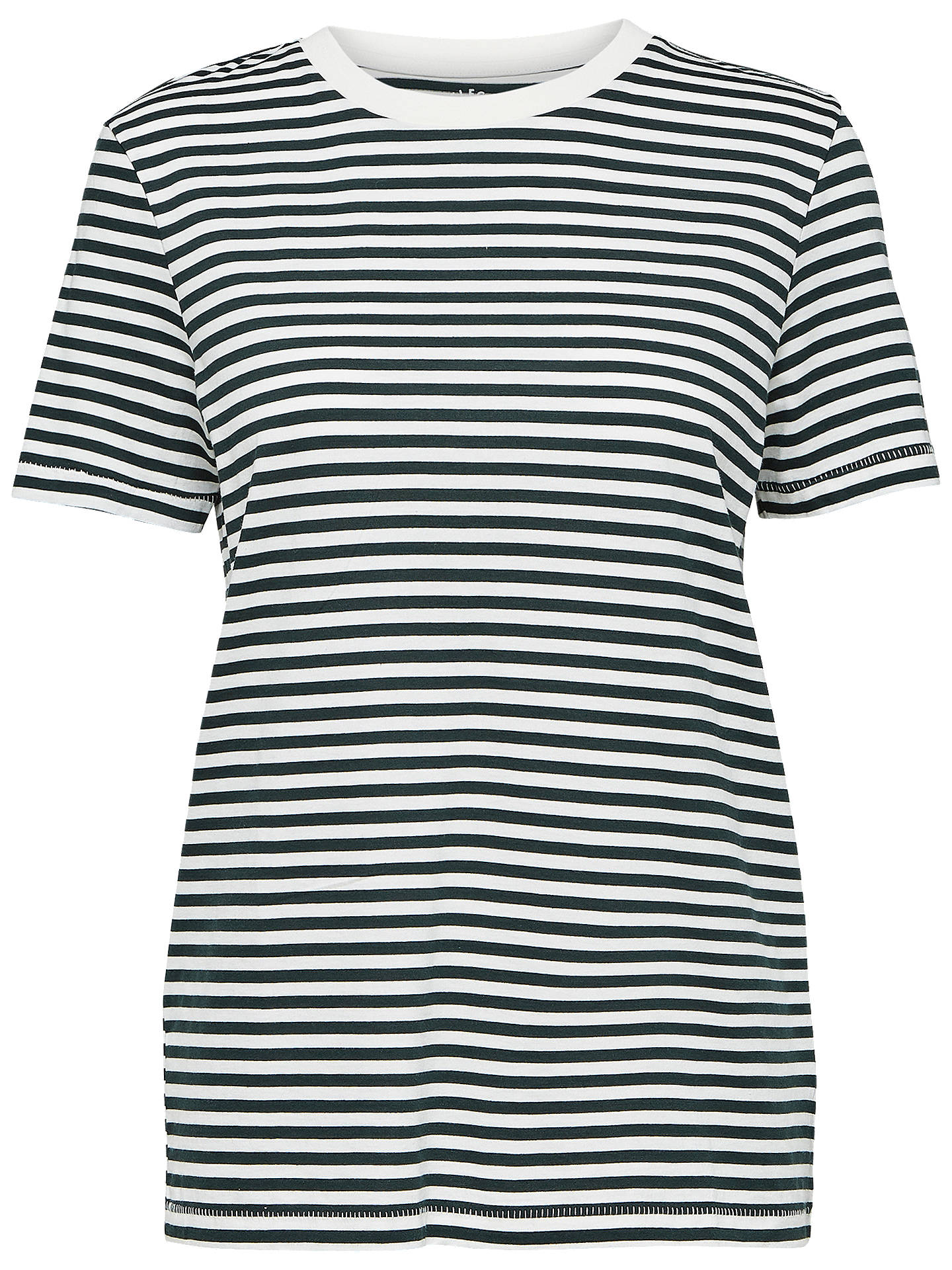 BuySelected Femme My Perfect Stripe T-Shirt, Peacoat, XS Online at johnlewis.com