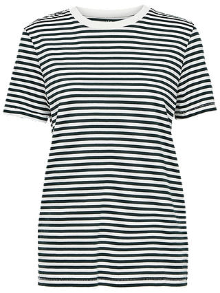 Buy Selected Femme My Perfect Stripe T-Shirt, Peacoat, M Online at johnlewis.com