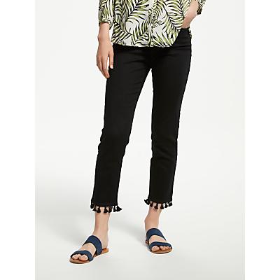 NYDJ Sheri Slim Ankle Pom Pom Jeans, Black