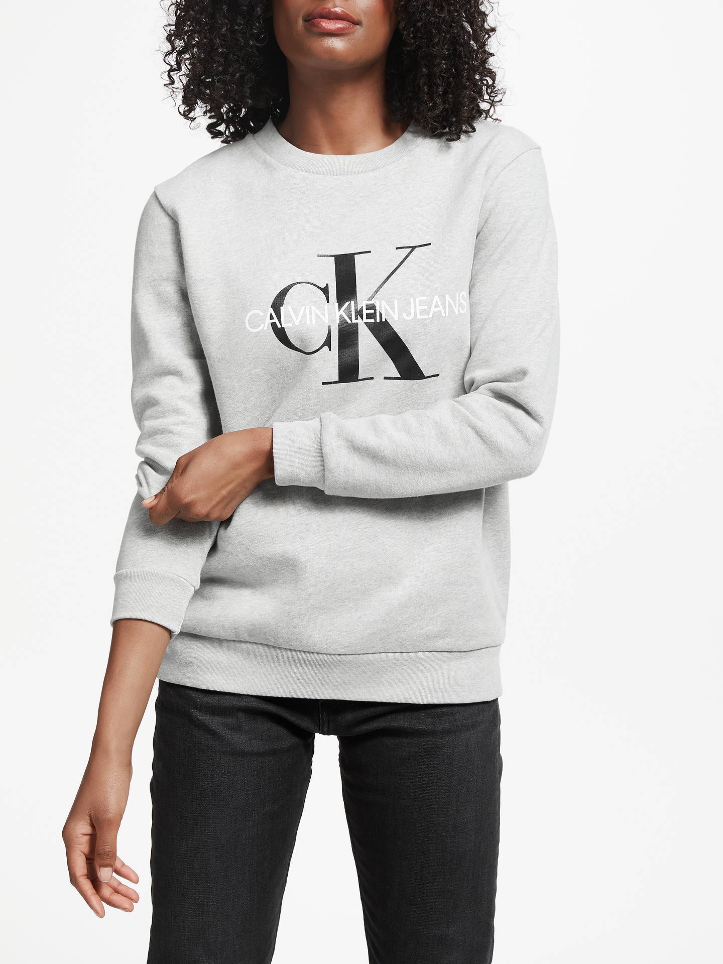 03ed4f644e7 Calvin Klein Core Monogram Logo Sweatshirt at John Lewis   Partners