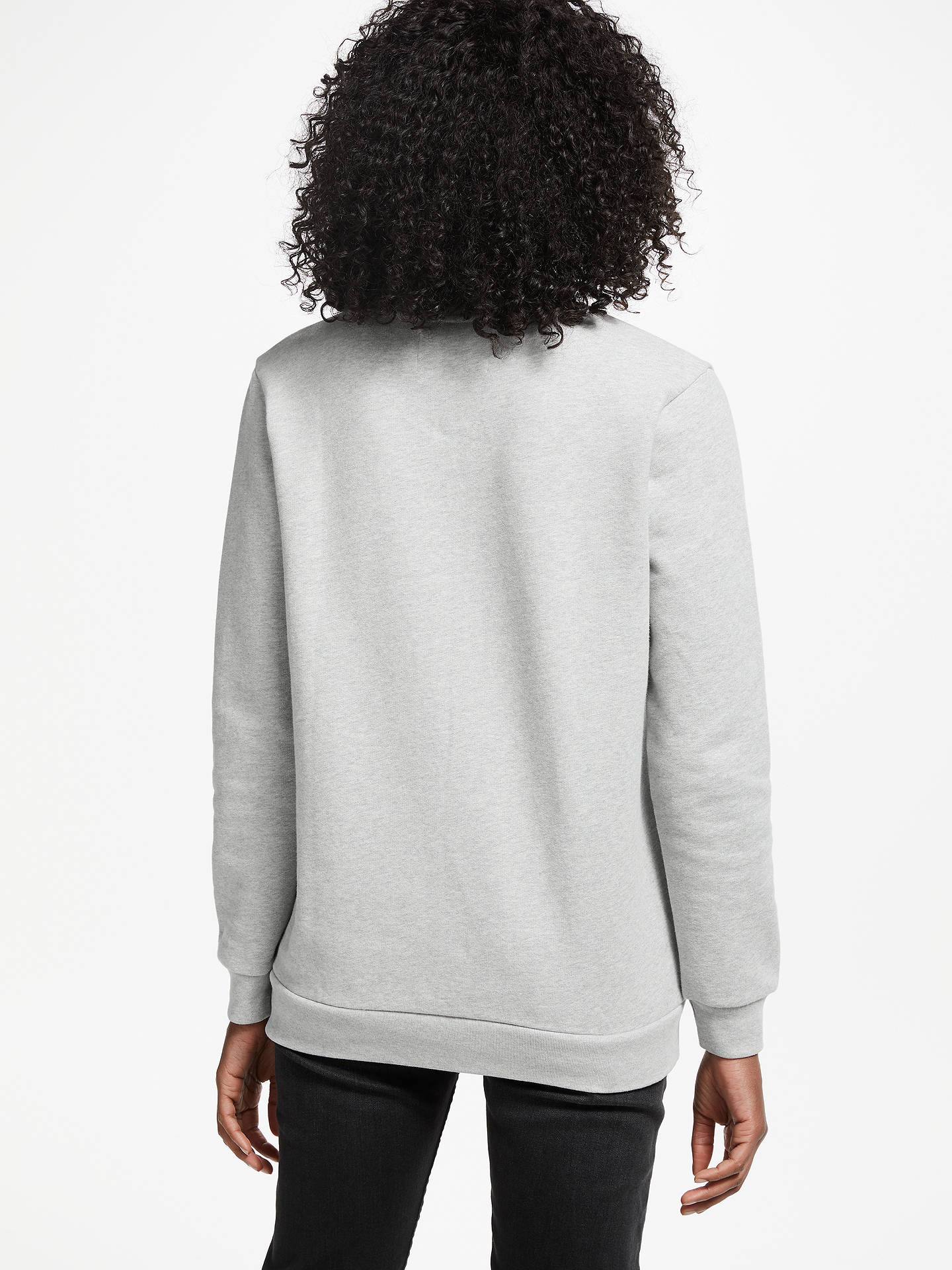 BuyCalvin Klein Core Monogram Logo Sweatshirt, Light Grey Heather, XS Online at johnlewis.com