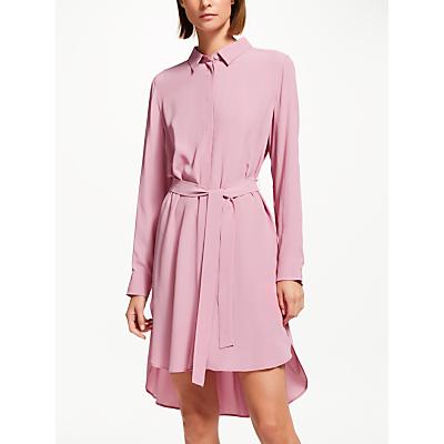 Marella Silk Mix Shirt Dress, Deep Rose