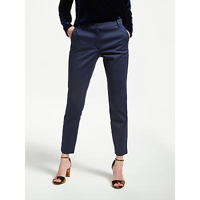 Marella Pinolo Jacquard Print Trousers, Navy