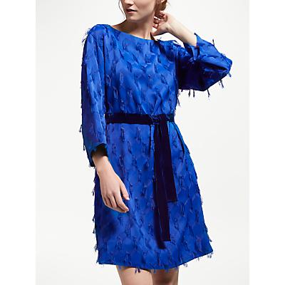 Marella Fringe Dress, Cornflower Blue
