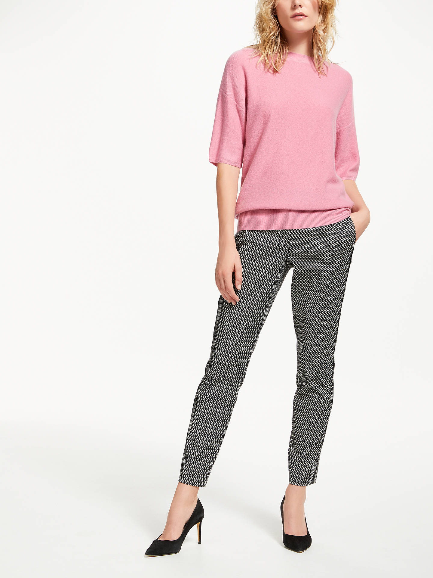 BuyMarella Jacquard Trousers, Cream, 8 Online at johnlewis.com