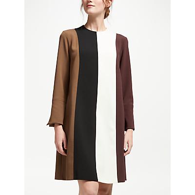 Marella Vertical Stripe Dress, Rust