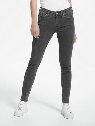 Buy Calvin Klein Mid Rise Super Skinny Jeans, Seattle Grey, W27/L30 Online at johnlewis.com