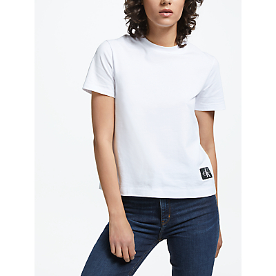 Calvin Klein Boxy Fit Logo T-Shirt, Bright White