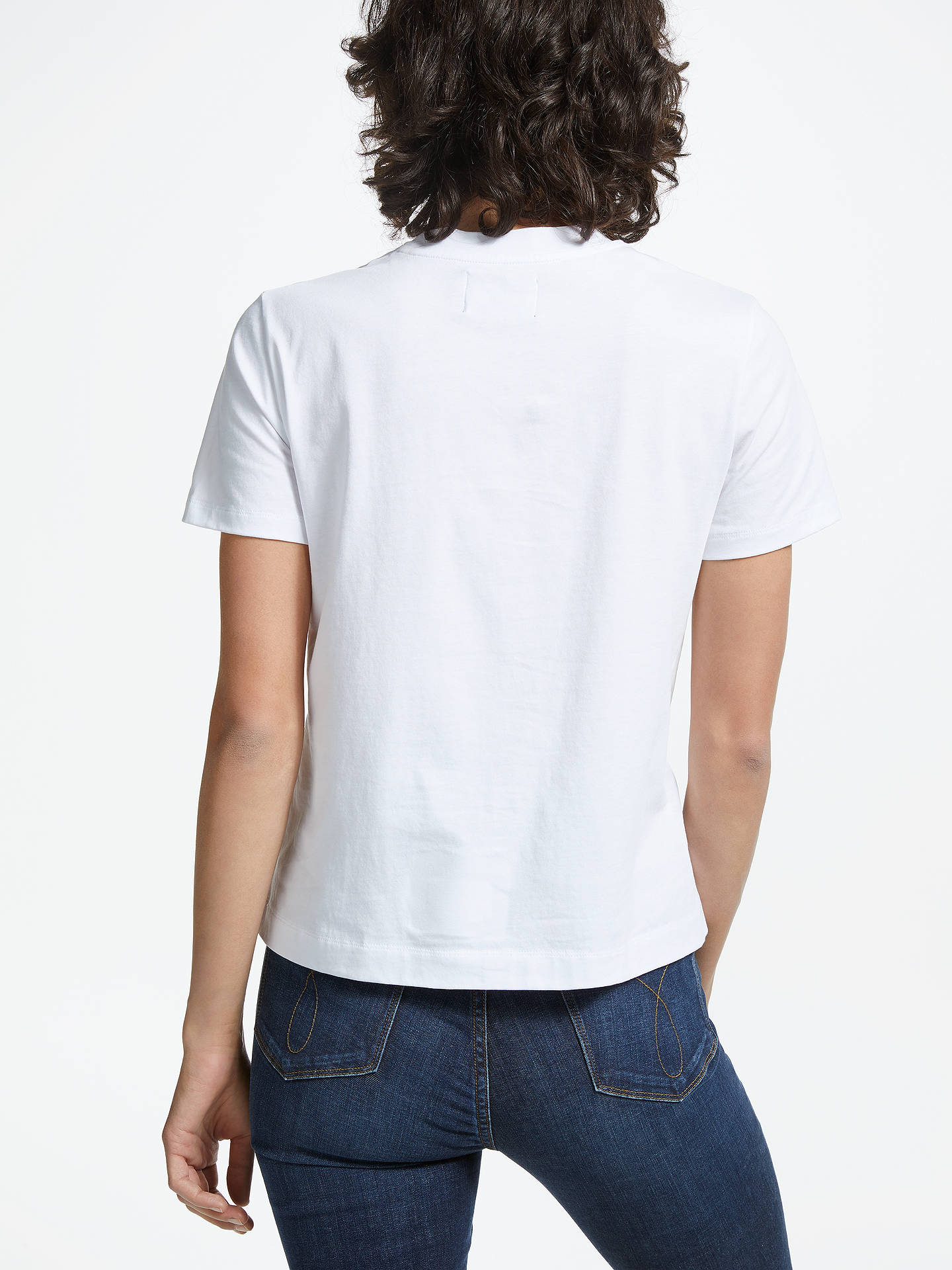 BuyCalvin Klein Boxy Fit Logo T-Shirt, Bright White, XS Online at johnlewis.com
