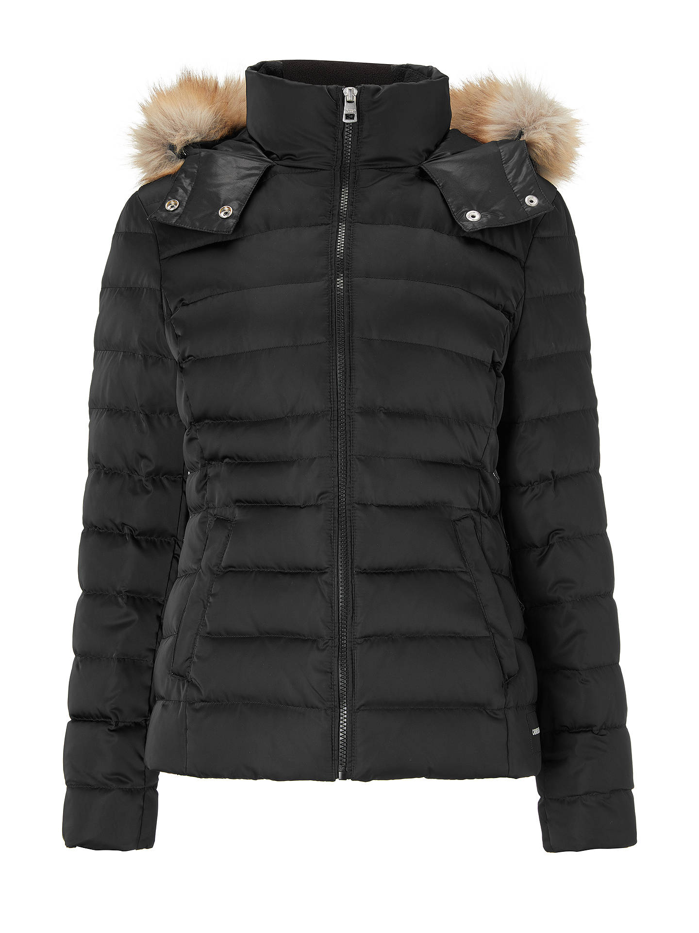 BuyCalvin Klein Mid Weight Down Jacket, Black, XS Online at johnlewis.com