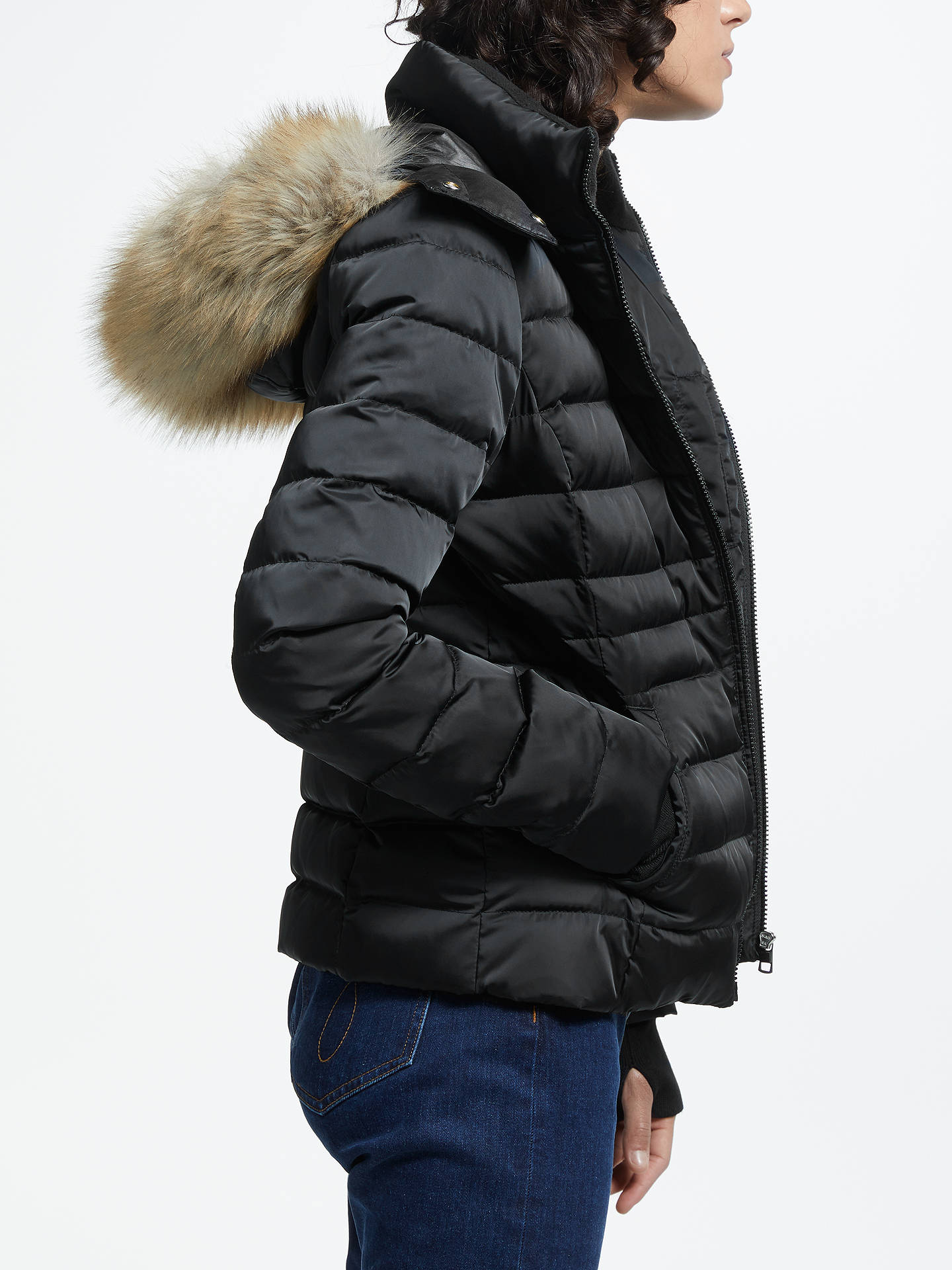 Buy Calvin Klein Mid Weight Down Jacket, Black, L Online at johnlewis.com