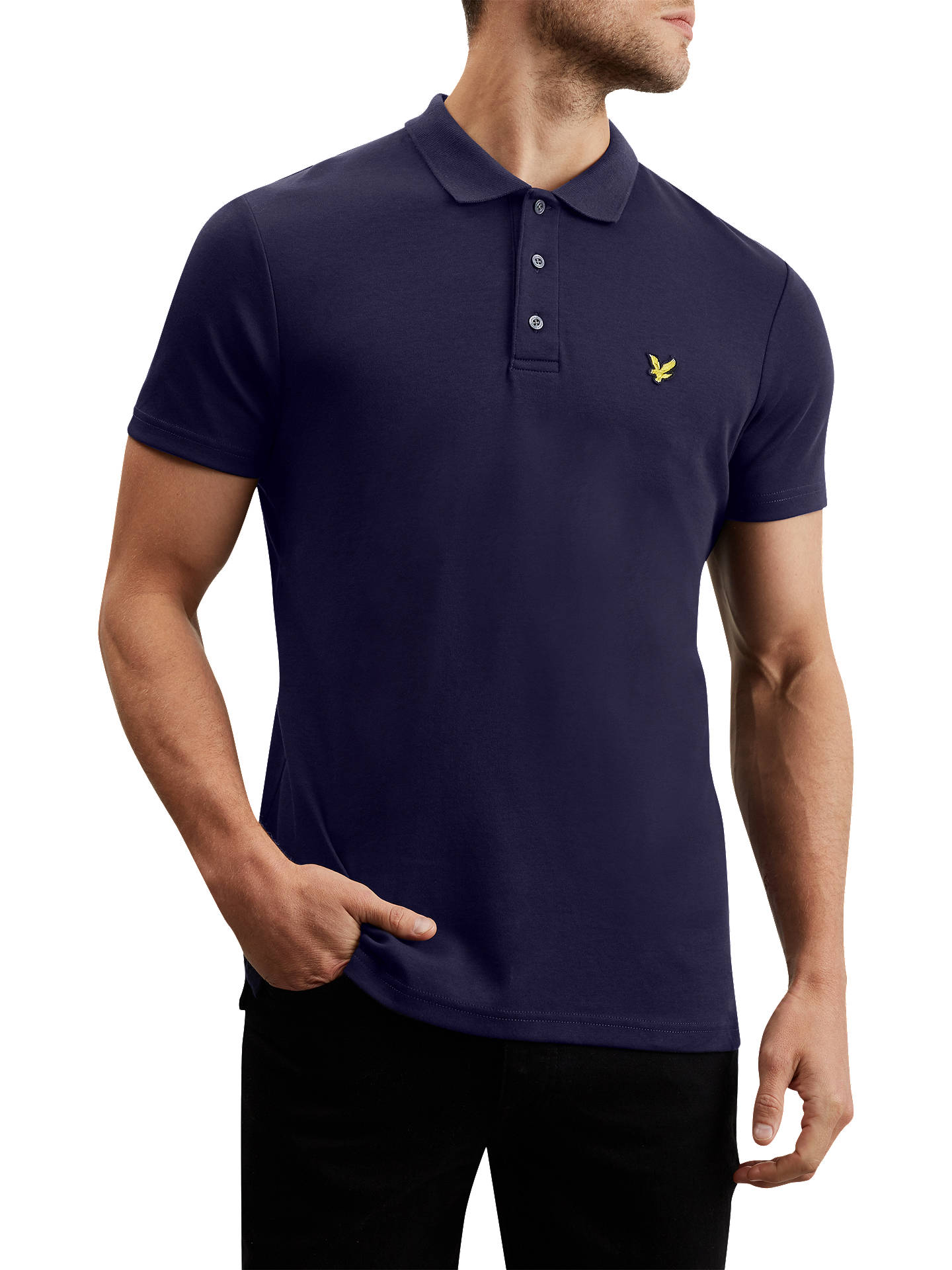 7b48476f Buy Lyle & Scott Short Sleeve Polo Shirt, Navy, S Online at johnlewis.