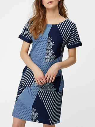White Stuff Patchwork Dress, Enso Blue