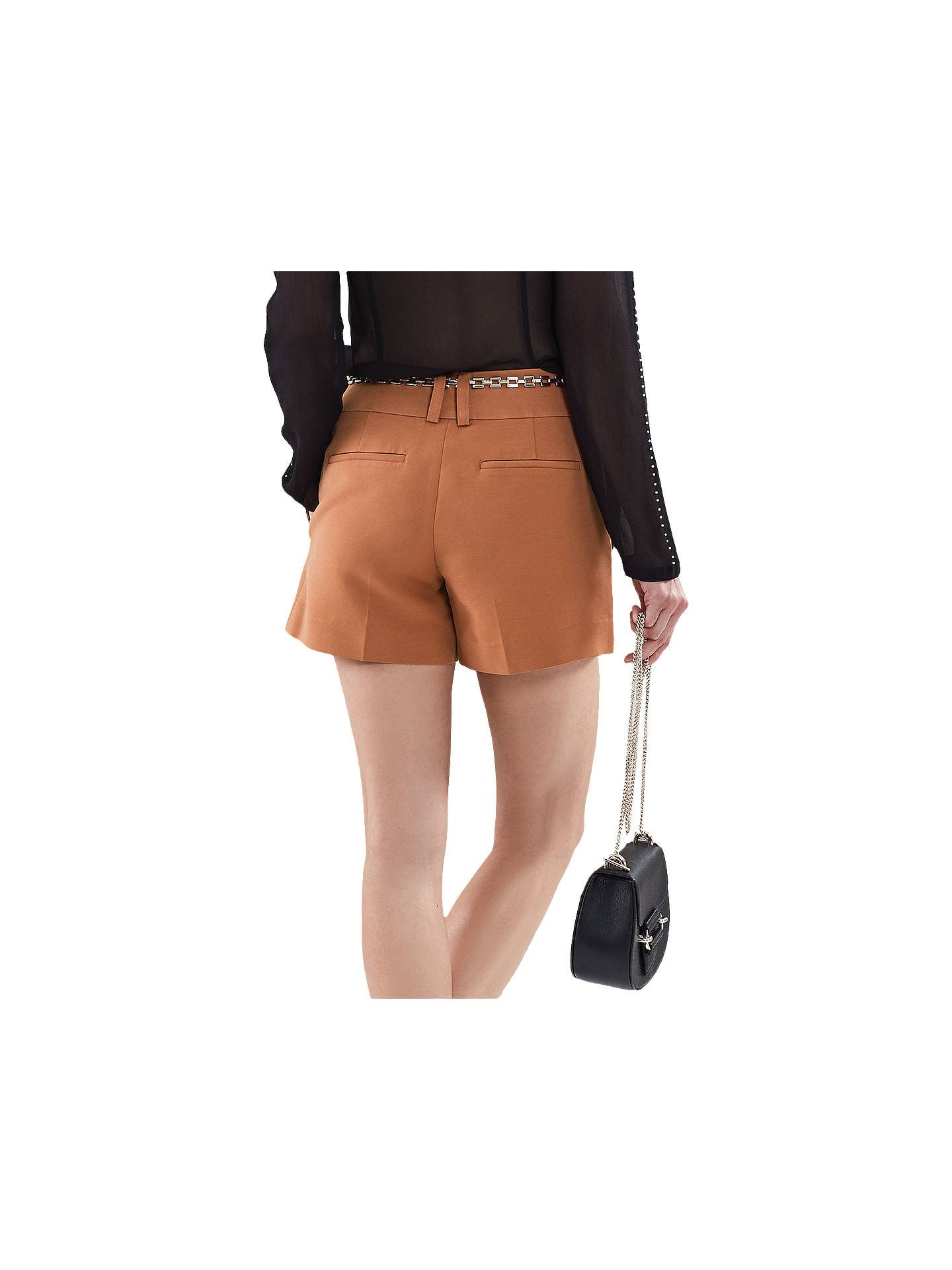 Buy Reiss Lyla Smart Shorts, Conker, 6 Online at johnlewis.com