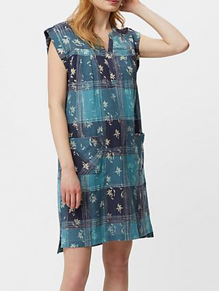 White Stuff Taro Check Dress, Indigo Blue