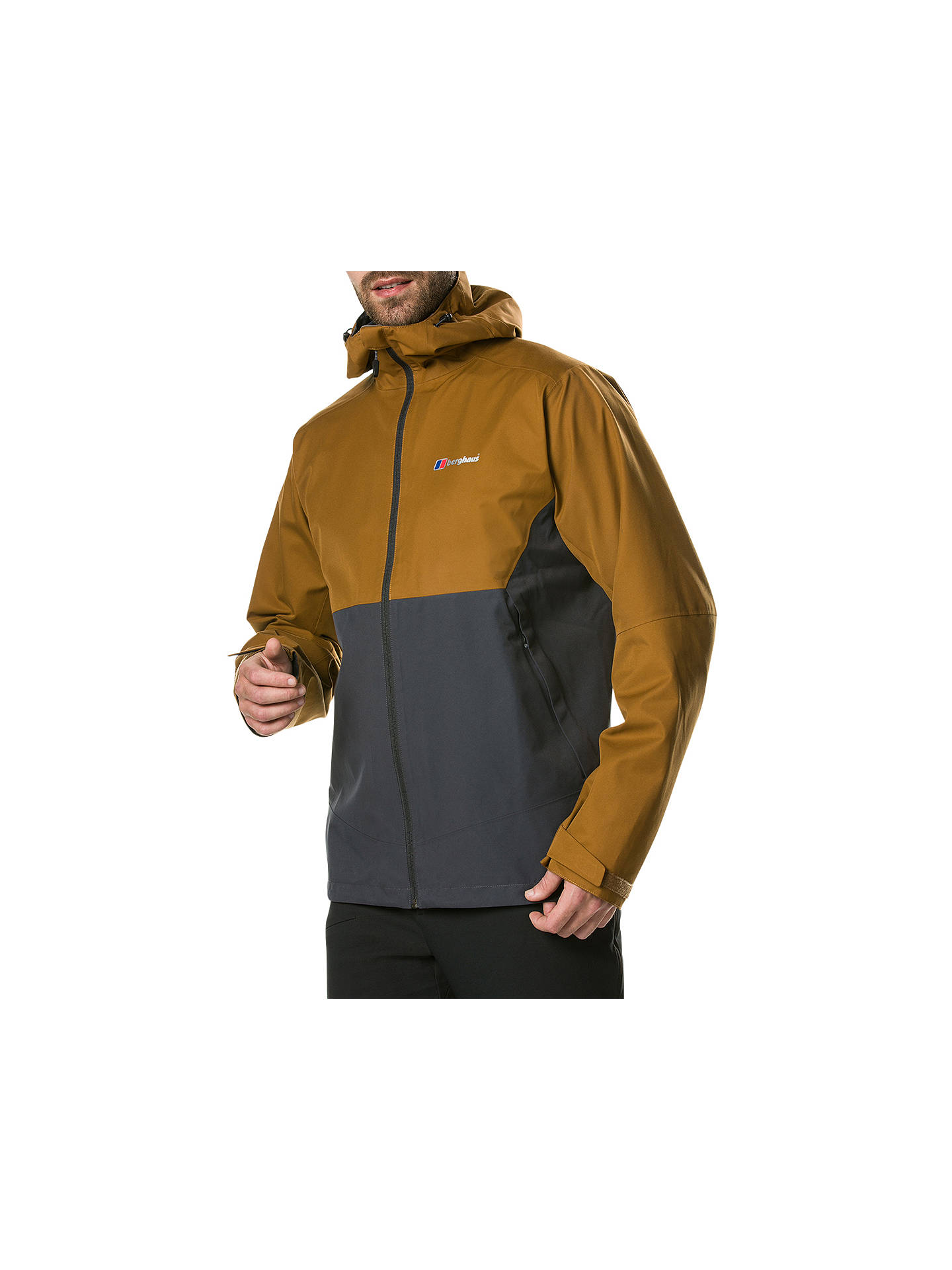 BuyBerghaus Fellmaster Men's Jacket, Black/Brown, S Online at johnlewis.com