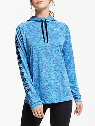 Under Armour Tech Hoodie, Blue Circuit/Academy/Metallic Silver