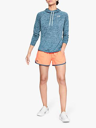 Under Armour Raglan Tech Hoodie, Static Blue/Halogen Blue/Metallic Silver
