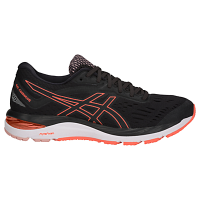 ASICS GEL-CUMULUS 19 Women's Running Shoes, Black/Flash Coral