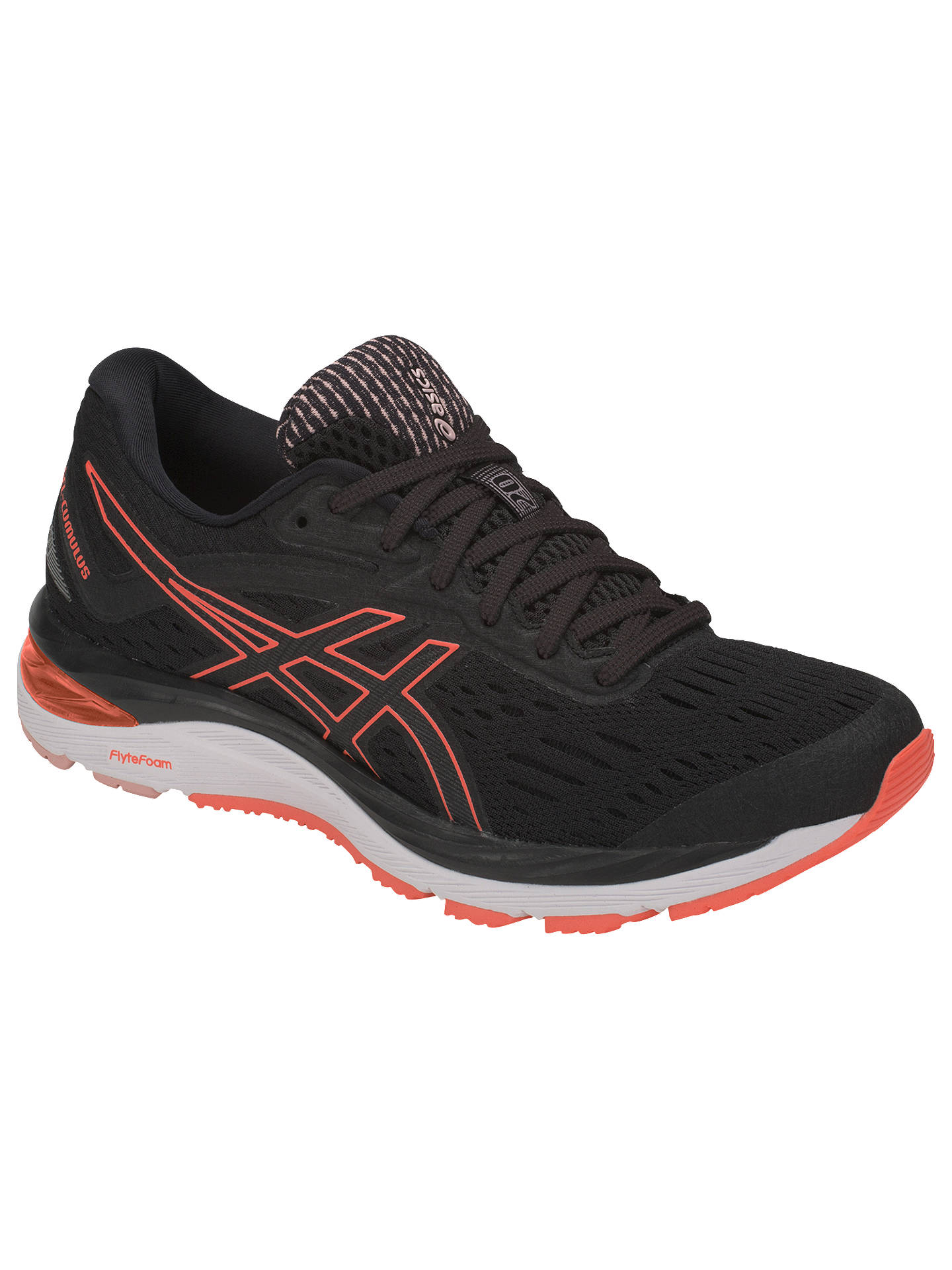 Buy ASICS GEL-CUMULUS 19 Women's Running Shoes, Black/Flash Coral, 4 Online at johnlewis.com