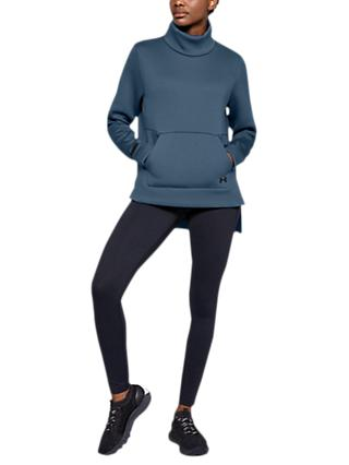 Under Armour Mock Neck Training Hoodie, Static Blue/Tonal