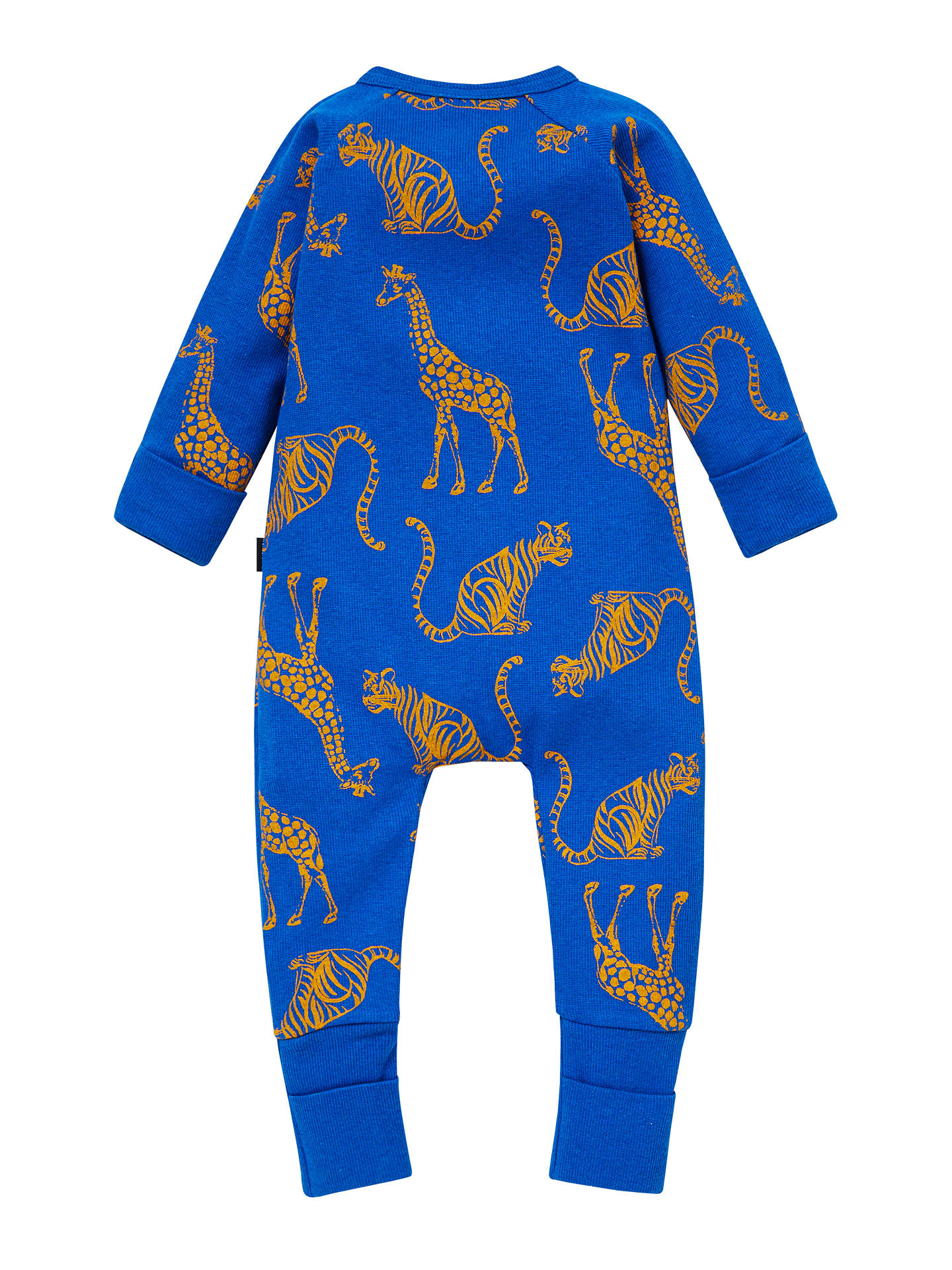 BuyBonds Baby Zippy Jungle Animal Print Wondersuit, Blue, Newborn Online at johnlewis.com