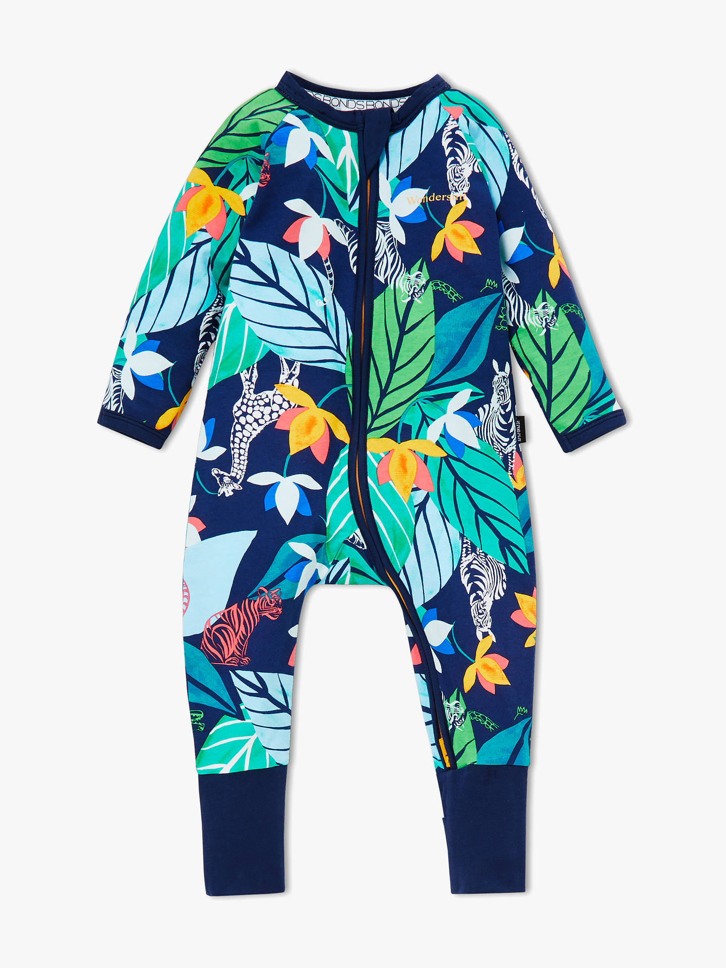 Buy Bonds Baby Zippy Jungle Print Wondersuit, Multi, Newborn Online at johnlewis.com
