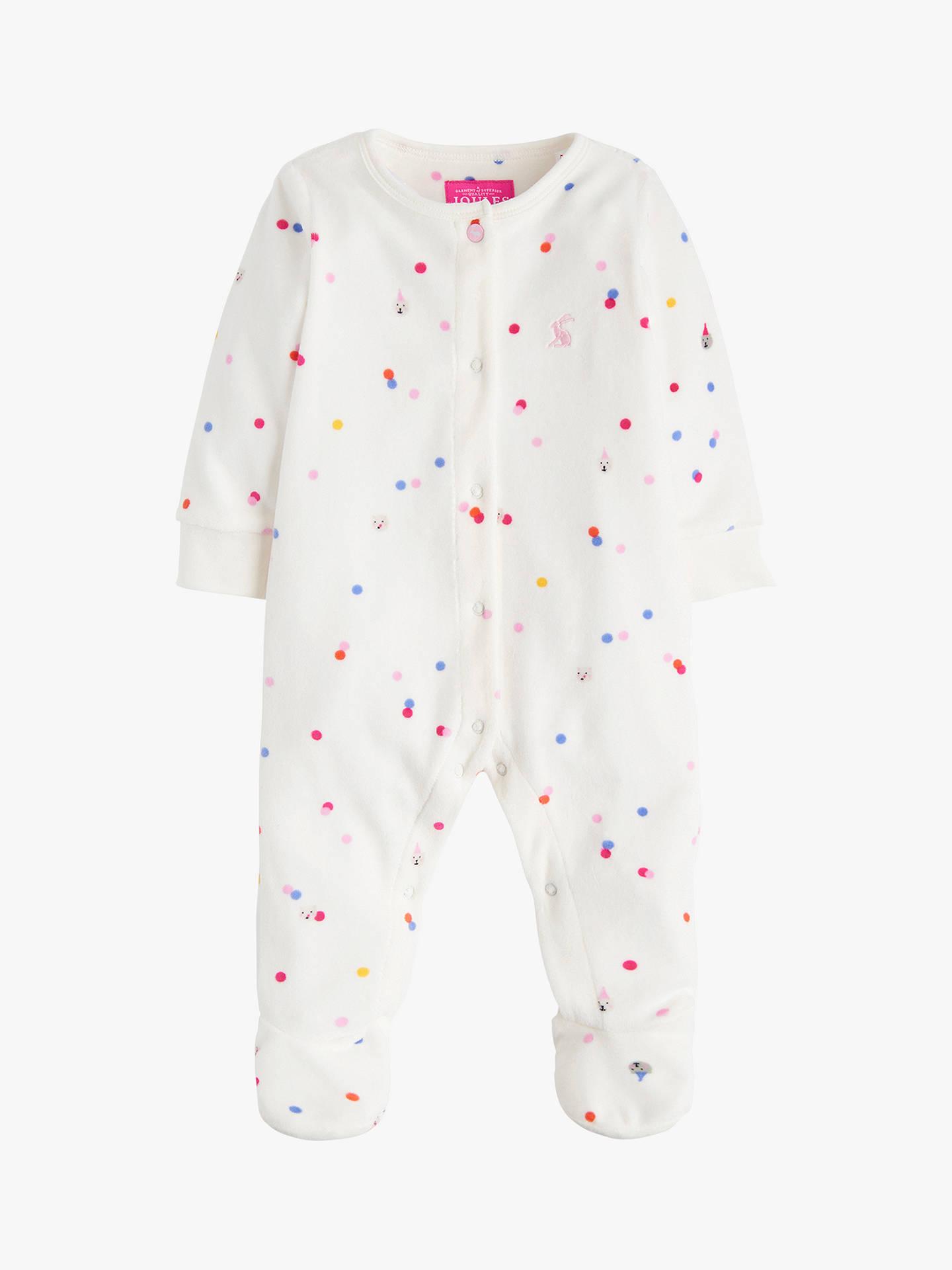 aa5f441a75f3 Baby Joule Cosmo Velour Sleepsuit