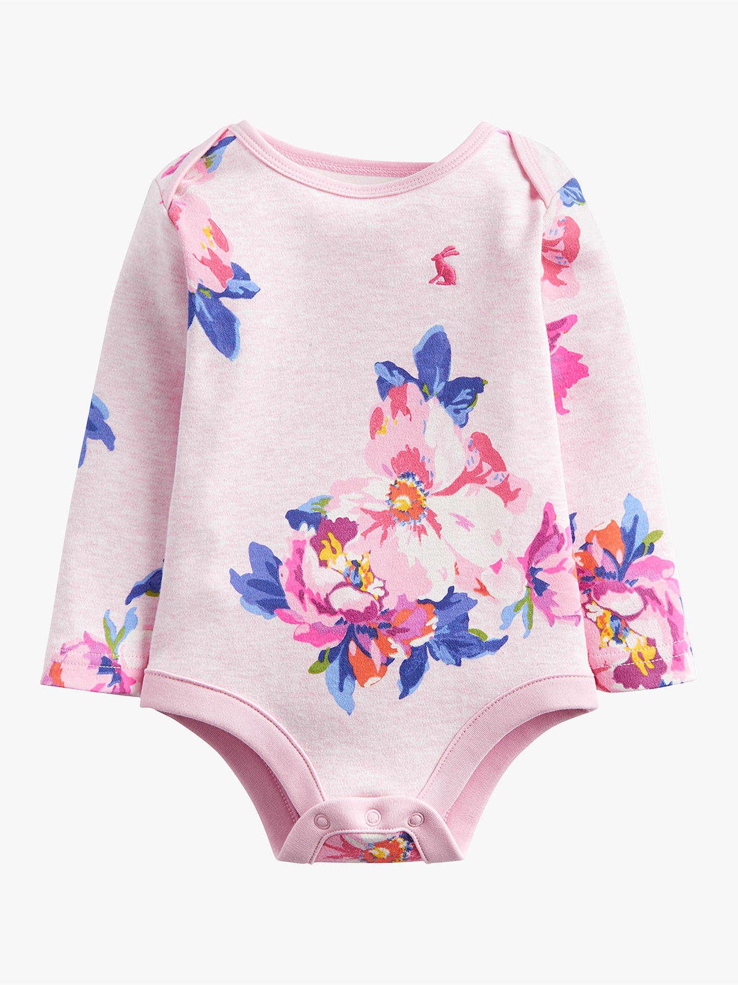 Buy Baby Joule Snazzy Floral Bodysuit, Pink, 0-3 months Online at johnlewis.com