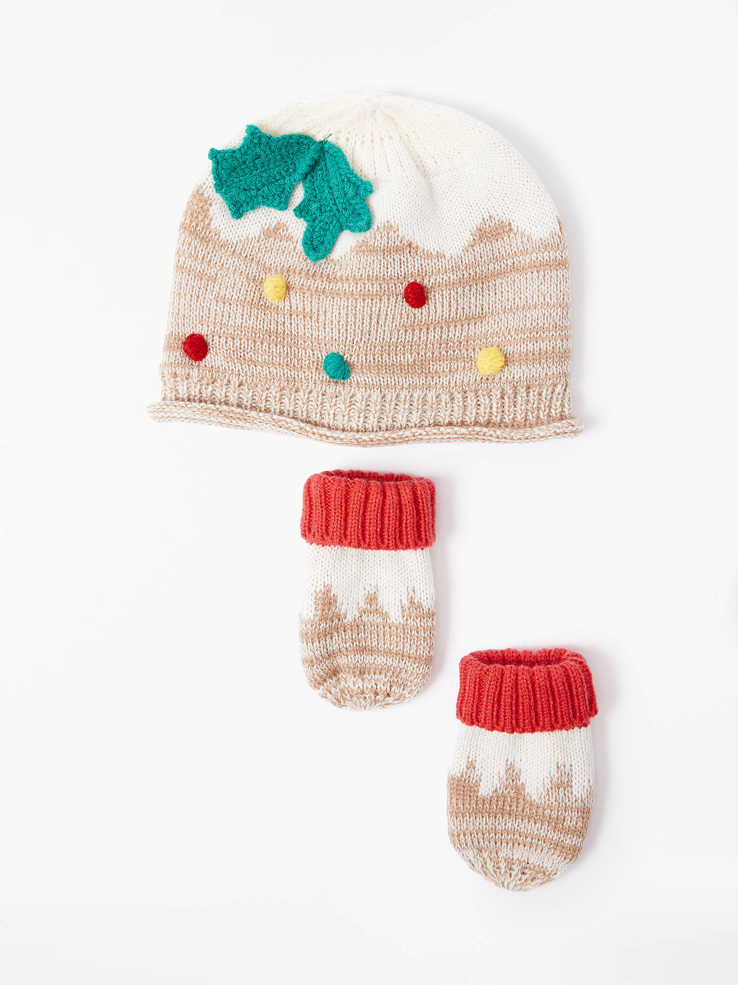 BuyJohn Lewis   Partners Baby Christmas Pudding Hat and Mitt Set 4eb022d8ab71