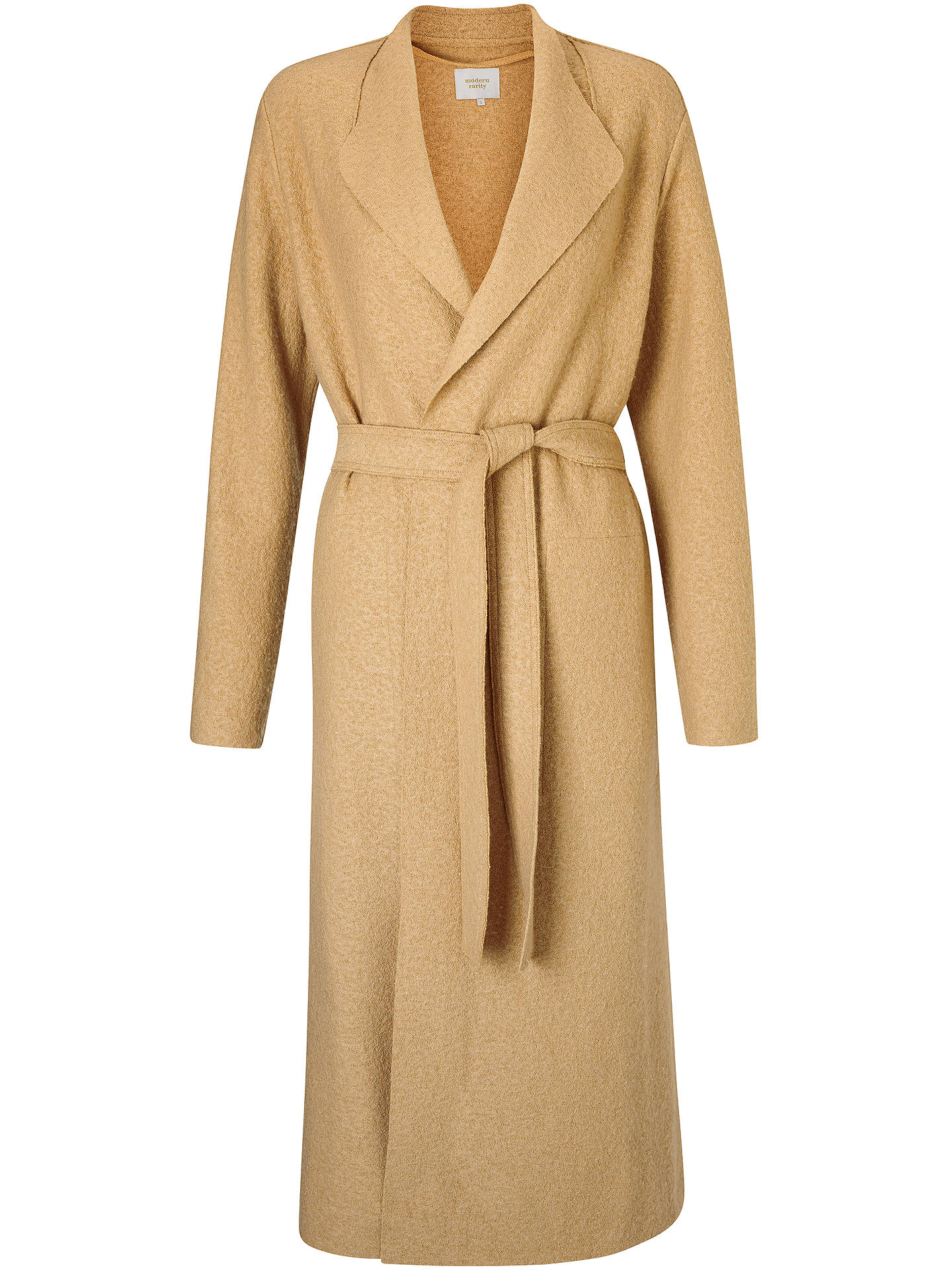 BuyModern Rarity Belted Split Coatigan, Camel, XS Online at johnlewis.com