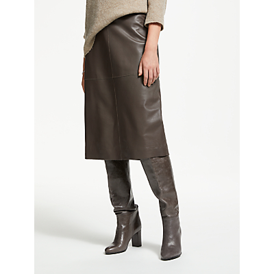 Modern Rarity Leather Skirt, Iron