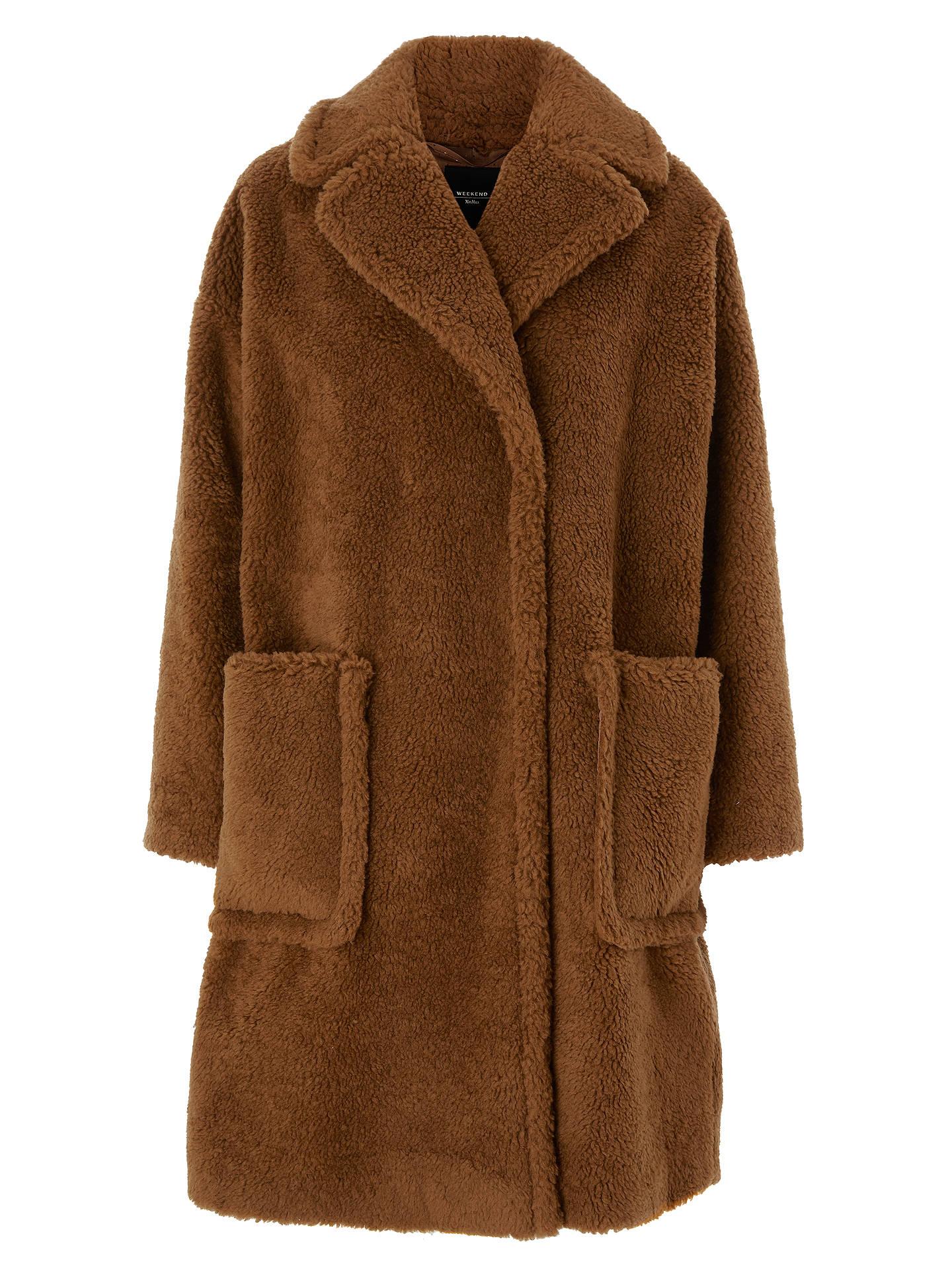 Weekend Faux Teddy Maxmara Fur Caramel Coat Reale John At Lewis rraxwSqgC
