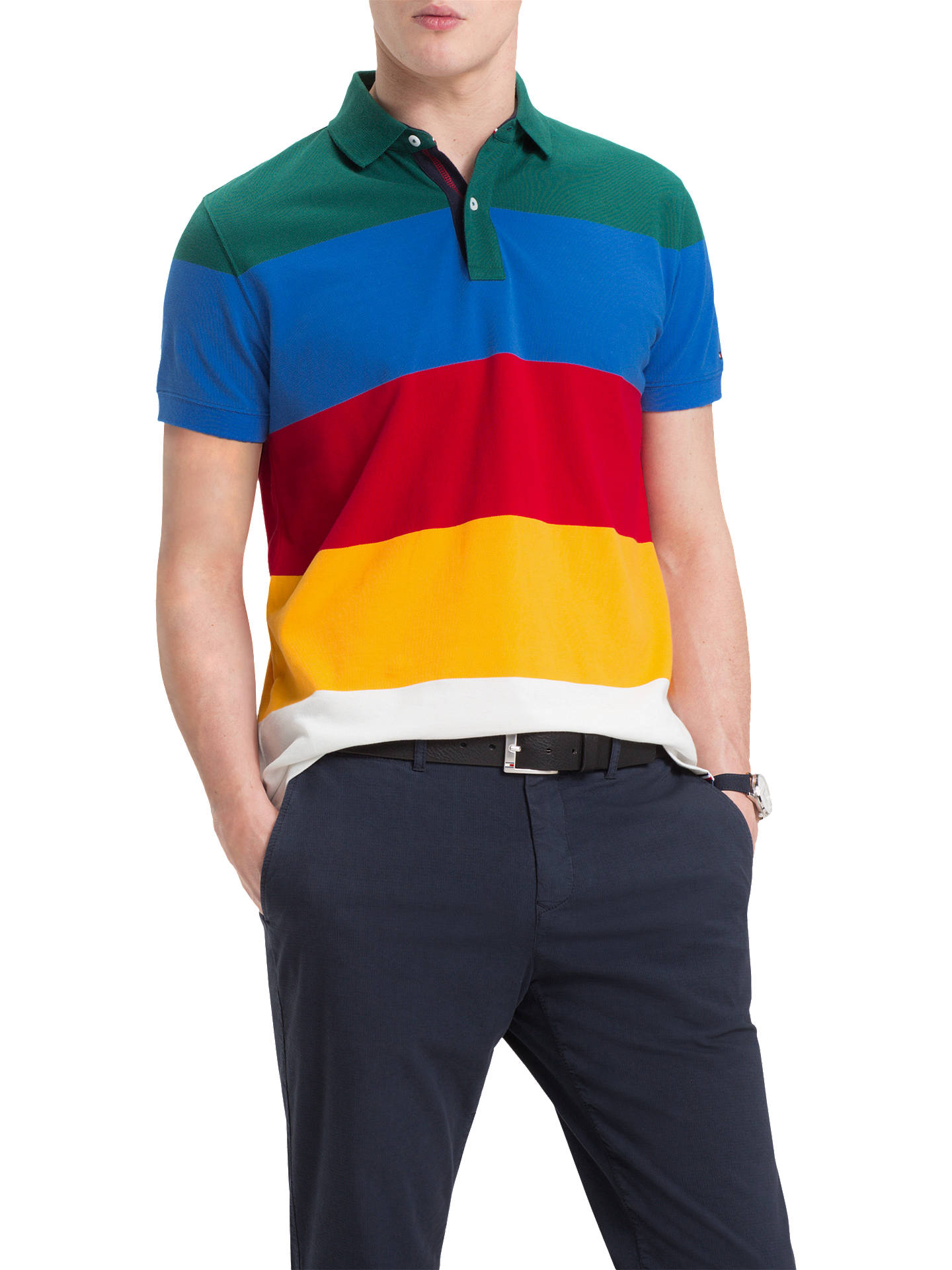 c85ab7731b0c15 Buy Tommy Hilfiger Short Sleeve Colour Block Polo Shirt