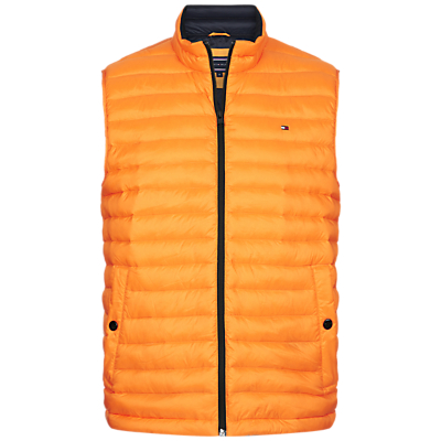 Tommy Hilfiger Lightweight Packable Down Vest, Yellow
