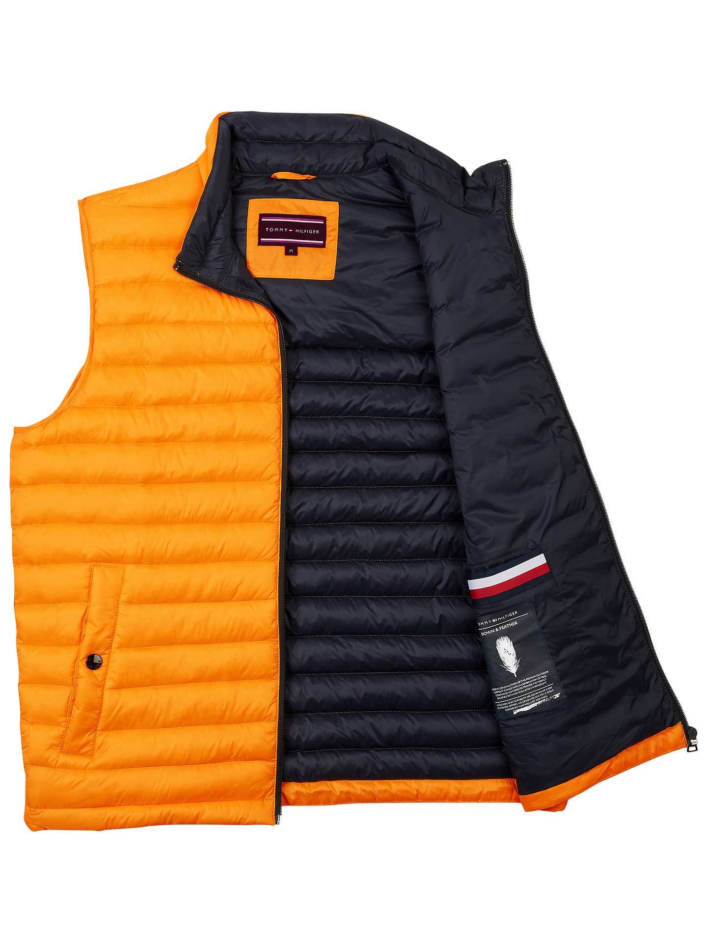 be4cd96f7 Tommy Hilfiger Lightweight Packable Down Vest, Yellow at John Lewis ...