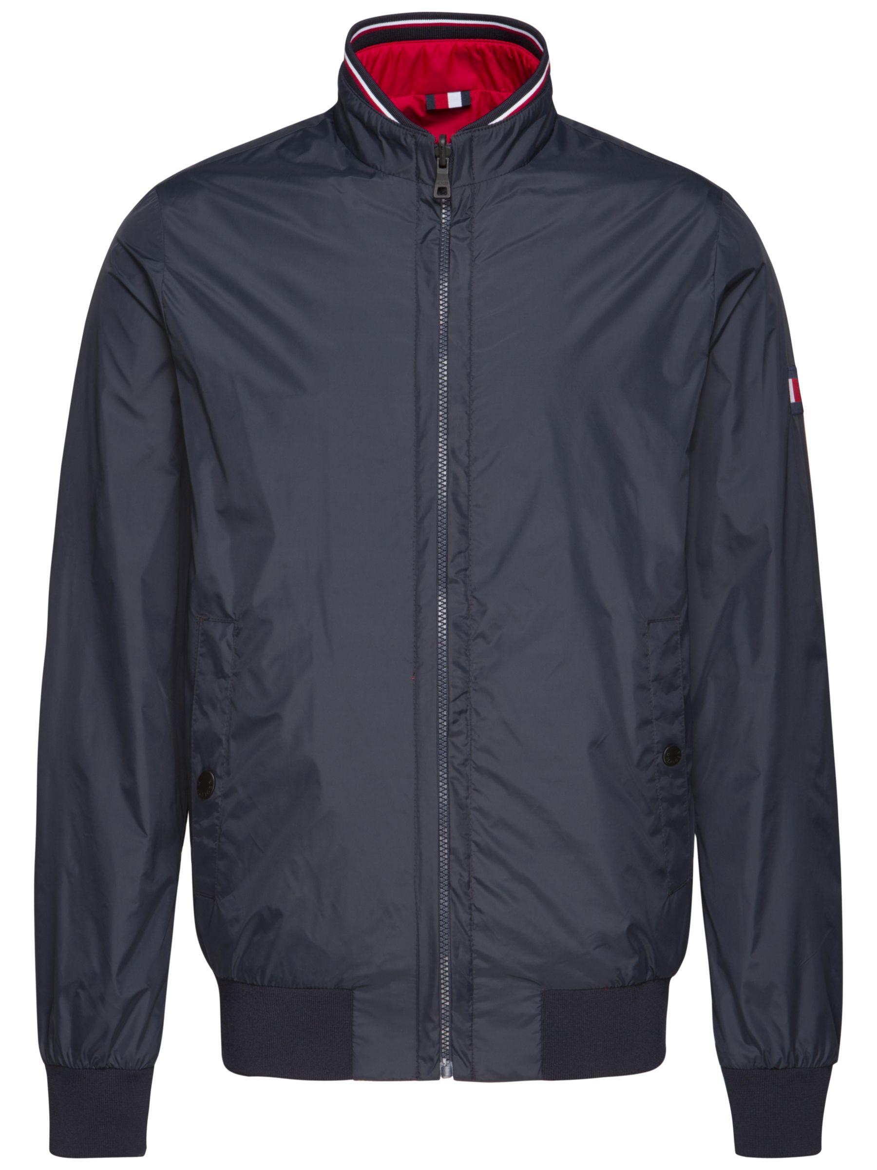 db5cf61c Tommy Hilfiger Reversible Bomber Jacket, Blue at John Lewis & Partners