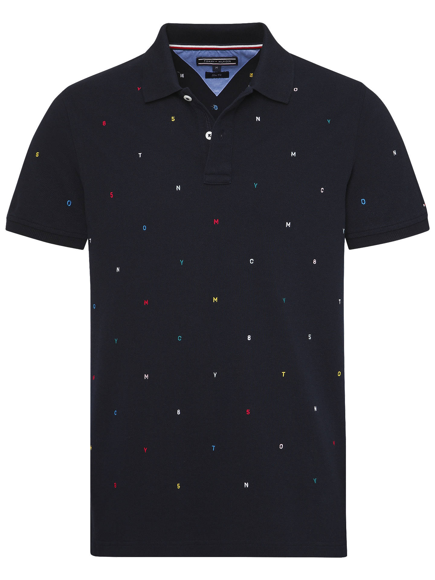 Tommy Hilfiger Short Sleeve Letter Embroidered Polo Shirt
