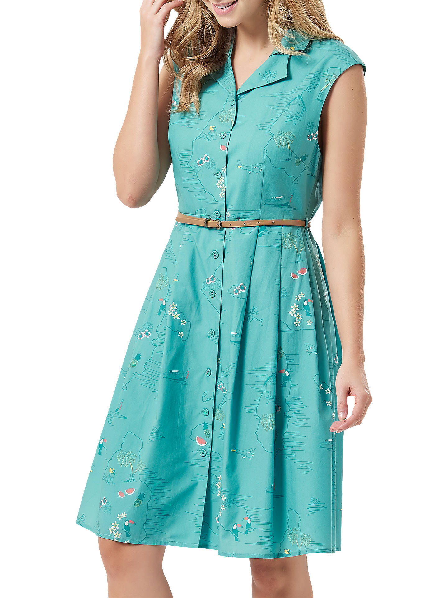 BuySugarhill Brighton Adra Shirt Dress, Green, 14 Online at johnlewis.com